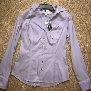 NEW EXPRESS Purple dress shirt small. With tags